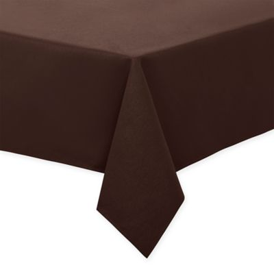 Keeco 60 Inch X 102 Inch Basket Weave Tablecloth In Chocolate