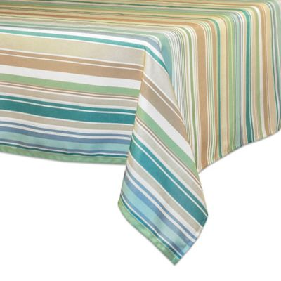 Merveilleux Ava Stripe 60 Inch X 120 Inch Oblong Tablecloth