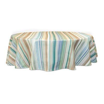 Ava Stripe 70 Inch Round Tablecloth