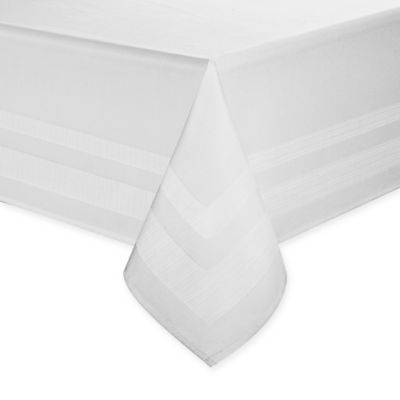 Superbe Wamsutta® Melrose 90 Inch X 70 Inch Oblong Tablecloth In White