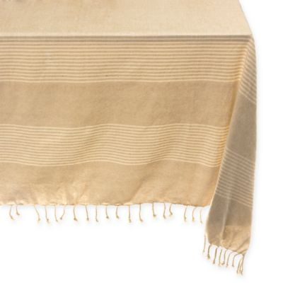 Kyle 56 Inch X 96 Inch Oblong Tablecloth In Taupe