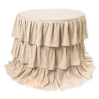 Belle Ruffle 90-Inch Round Tablecloth in Natural