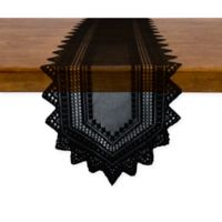 Nordic 72-Inch Lace Table Runner in Black