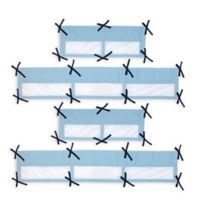 Nautica Kids® Whale of a Tale Secure-Me Mesh Crib Liner in Light Blue
