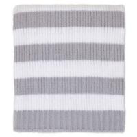 Nautica Kids® Mix & Match Chenille Striped Blanket in Grey