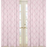 Sweet Jojo Designs Alexa Damask Window Panel Pair in Pink/Grey