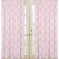Sweet Jojo Designs Alexa Damask Window Panel Pair in Pink/Grey