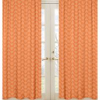 Sweet Jojo Designs Arrow Window Panel Pair in Orange/White