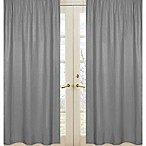 Sweet Jojo Designs Navy and Grey Stripe Window Panel Pair in Grey
