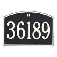 Whitehall Products 1-Line Personalized Address Wall Plaque in Black/White