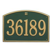 Whitehall Products 1-Line Personalized Address Wall Plaque in Green/Gold