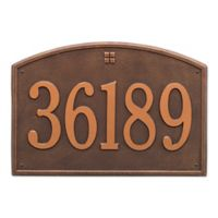 Whitehall Products 1-Line Personalized Address Wall Plaque in Antique Copper