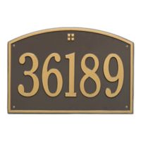 Whitehall Products 1-Line Personalized Address Wall Plaque in Bronze/Gold