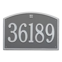 Whitehall Products 1-Line Personalized Address Wall Plaque in Pewter Silver