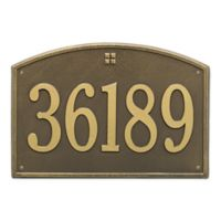 Whitehall Products 1-Line Personalized Address Wall Plaque in Antoque Brass