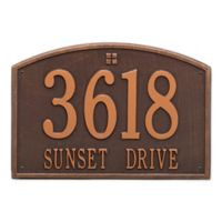 Whitehall Products 2-Line Personalized Address Wall Plaque in Antique Copper