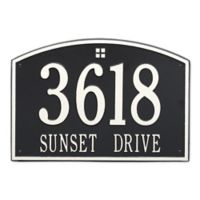 Whitehall Products 2-Line Personalized Address Wall Plaque in Black/White