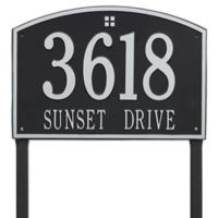 Whitehall Products Cape Charles 2-Line Estate Lawn Plaque in Black/Silver