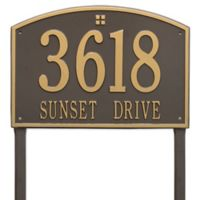 Whitehall Products Cape Charles 2-Line Estate Lawn Plaque in Bronze/Gold
