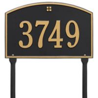 Whitehall Products Cape Charles 1-Line Standard Lawn Plaque in Black/Gold