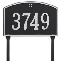 Whitehall Products Cape Charles 1-Line Standard Lawn Plaque in Black/Silver