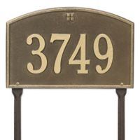 Whitehall Products Cape Charles 1-Line Standard Lawn Plaque in Antique Brass