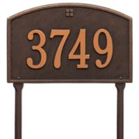 Whitehall Products Cape Charles 1-Line Standard Lawn Plaque in Bronze