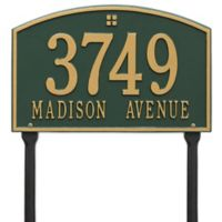 Whitehall Products Cape Charles 2-Line Standard Lawn Plaque in Green/Gold