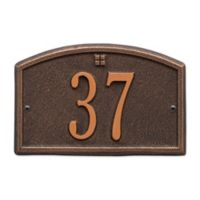 Whitehall Products Cape Charles 1-Line Petite Wall Plaque in Bronze