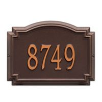 Whitehall Williamsburg 1-Line Standard Wall Plaque in Antique Copper