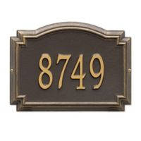 Whitehall Williamsburg 1-Line Standard Wall Plaque in Bronze/Gold