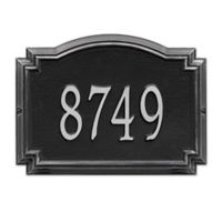Whitehall Williamsburg 1-Line Standard Wall Plaque in Black/Silver