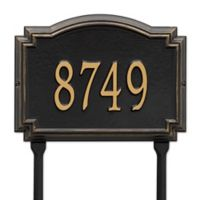 Whitehall Products Williamsburg 1-Line Standard Lawn Plaque in Black/Gold
