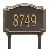 Whitehall Products Williamsburg 1-Line Standard Lawn Plaque in Bronze/Gold