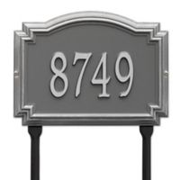 Whitehall Products Williamsburg 1-Line Standard Lawn Plaque in Pewter/Silver