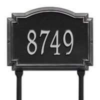 Whitehall Products Williamsburg 1-Line Standard Lawn Plaque in Black/Silver