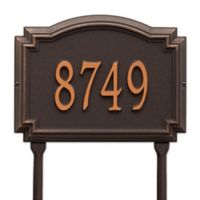 Whitehall Products Williamsburg 1-Line Standard Lawn Plaque in Bronze