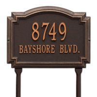 Whitehall Products Williamsburg 2-Line Standard Lawn Plaque in Bronze