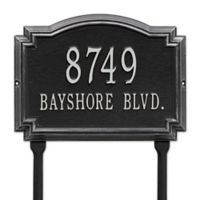 Whitehall Products Williamsburg 2-Line Standard Lawn Plaque in Black/Silver