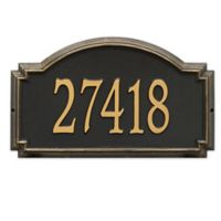 Whitehall Products Williamsburg 1-Line Standard Wall Plaque in Black/Gold