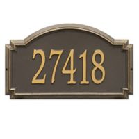Whitehall Products Williamsburg 1-Line Standard Wall Plaque in Bronze/Gold