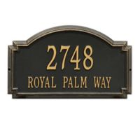 Whitehall Williamsburg 2-Line Estate Wall Plaque in Black/Gold