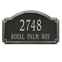 Whitehall Williamsburg 2-Line Estate Wall Plaque in Black/Silver