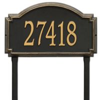 Whitehall Products Williamsburg One Line Lawn Plaque in Black/Gold