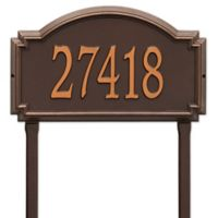 Whitehall Products Williamsburg One Line Lawn Plaque in Antique Copper