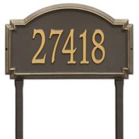 Whitehall Products Williamsburg One Line Lawn Plaque in Bronze/Gold