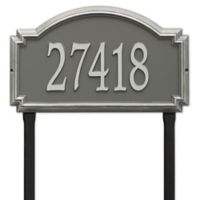 Whitehall Products Williamsburg One Line Lawn Plaque in Pewter/Silver