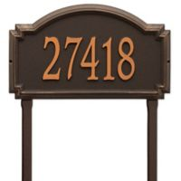 Whitehall Products Williamsburg One Line Lawn Plaque in Bronze
