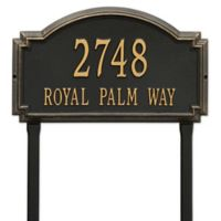 Whitehall Products Williamsburg Two Line Lawn Plaque in Black/Gold