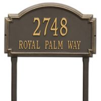 Whitehall Products Williamsburg Two Line Lawn Plaque in Bronze/Gold